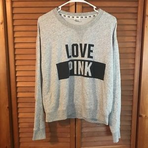 Victoria's Secret PINK Gray Crewneck Sweatshirt